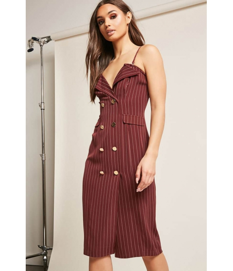Imbracaminte Femei Forever21 Double-Breasted Cami Dress BURGUNDY