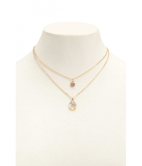 Bijuterii Femei Forever21 Layered Faux Crystal Necklace GOLD