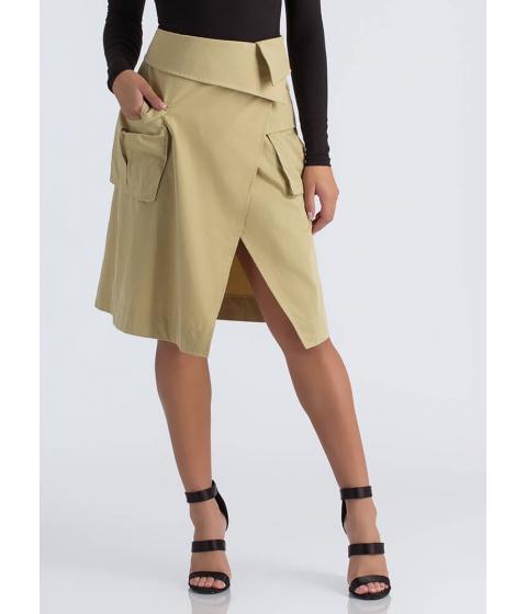 Imbracaminte Femei CheapChic Precious Cargo Asymmetrical Midi Skirt Beige
