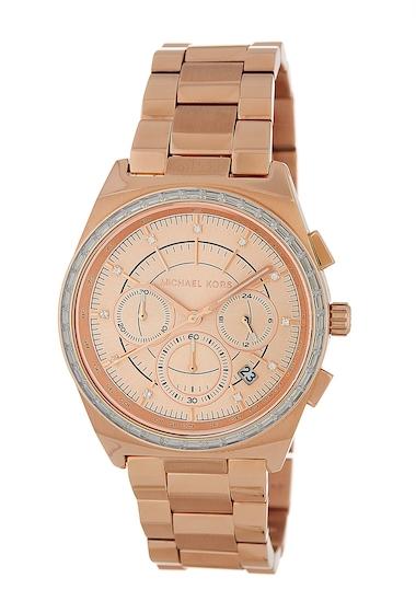 Ceasuri Femei MICHAEL Michael Kors Womens Vail Chronograph Bracelet Watch 39mm ROSE