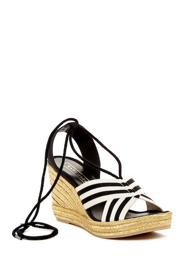 Incaltaminte Femei Marc Jacobs Dani Espadrille Wedge Sandal BLACK-WHITE