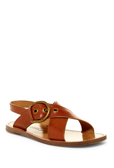 Incaltaminte Femei Marc Jacobs Patti Flat Sandal LUGGAGE