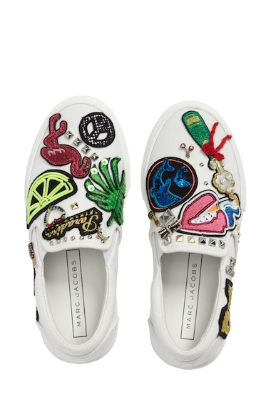 Incaltaminte Femei Marc Jacobs Mercer Embellished Slip-On Sneaker WHITE MULTI