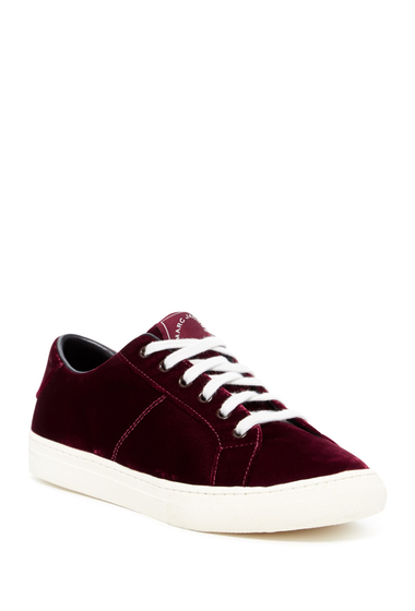 Incaltaminte Femei Marc Jacobs Empire Velvet Low-Top Sneaker BORDEAUX
