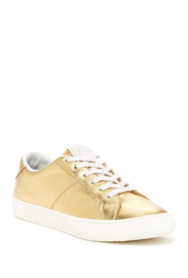 Incaltaminte Femei Marc Jacobs Empire Leather Low-Top Sneaker GOLD