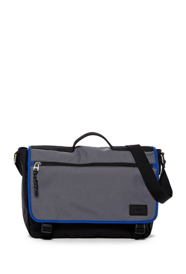 Genti Barbati Fossil Travis Book Bag GUNMENTAL