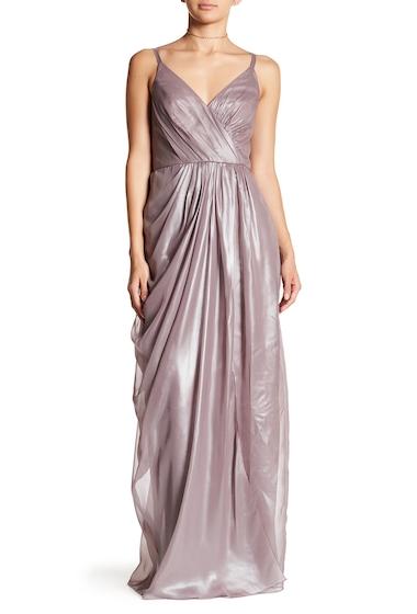 Imbracaminte Femei Vera Wang Metallic Chiffon Gown QUARTZ