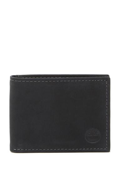 Accesorii Barbati Timberland Nubuck Slimfold Leather ID Wallet 08-BLACK