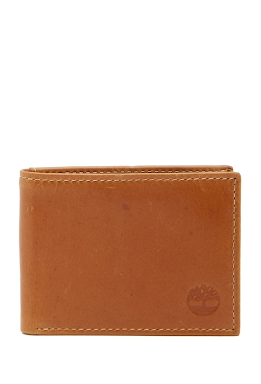 Accesorii Barbati Timberland Crazy Horse Slimfold Leather ID Wallet 35-COGNAC