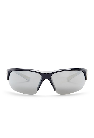 Ochelari Femei Nike Skylon Ace 69mm Wrap Sunglasses SHINY OBSIDIANWHITE