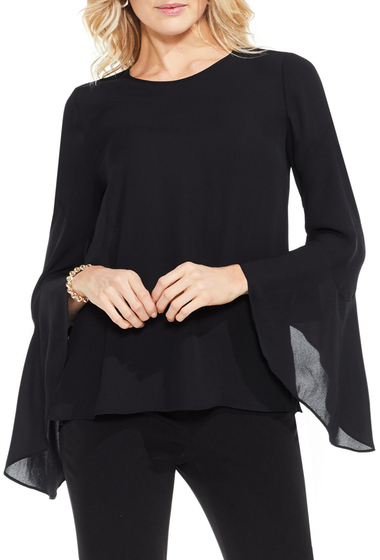 Imbracaminte Femei Vince Camuto Bell Sleeve Blouse Petite RICH BLACK