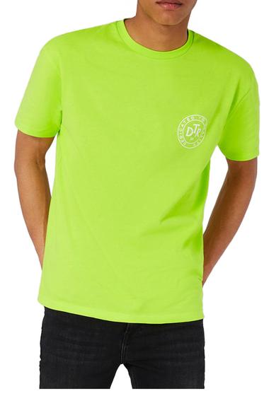 Imbracaminte Barbati TOPMAN Oversize Crewneck T-Shirt BRIGHT GREEN