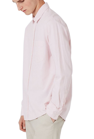 Imbracaminte Barbati TOPMAN Slim Fit Stripe Cotton Woven Shirt PINK MULTI