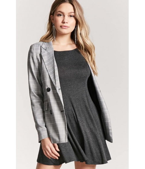 Imbracaminte Femei Forever21 Stretch-Knit Swing Dress CHARCOAL
