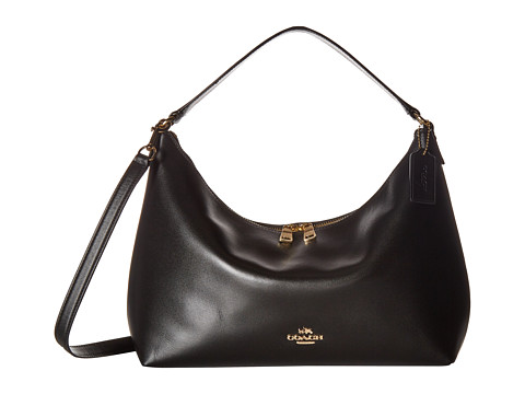 Genti Femei COACH Pebbled Leather EastWest Celeste Convertible Hobo IMBlack