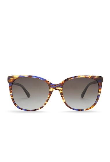 Ochelari Femei Gucci Womens Oversized 56mm Acetate Frame Sunglasses BLU HVN CRYSTAL