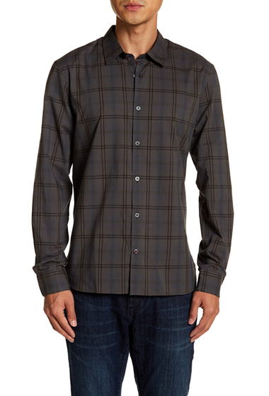 Imbracaminte Barbati John Varvatos Star USA Mayfield Slim Fit Plaid Shirt OLIVE