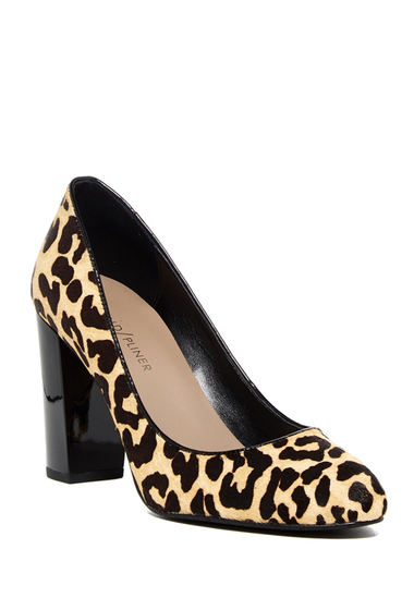 Incaltaminte Femei Donald Pliner Hadley Genuine Calf Hair Block Heel Pump BLACKNATUR