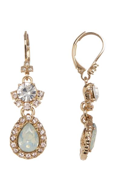 Bijuterii Femei Marchesa Double Drop Stone Crystal Earrings GOLD