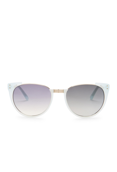 Ochelari Femei Linda Farrow Womens Round Cut-Out Sunglasses SPEARMINT