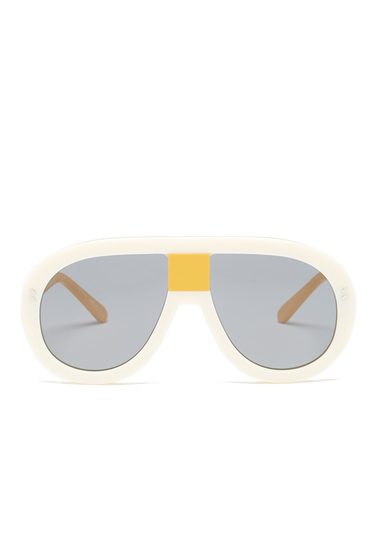 Ochelari Femei Stella McCartney Womens Pilot Aviator Sunglasses CREAM-YELLOW