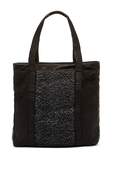 Genti Barbati ALLSAINTS Hoshi Horse Leather Tote Bag WASHED BLACK