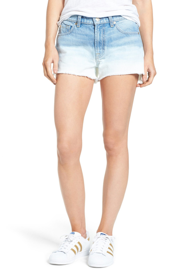 Imbracaminte Femei 7 For All Mankind High Waist Step Hem Denim Shorts OCEANBREZ4