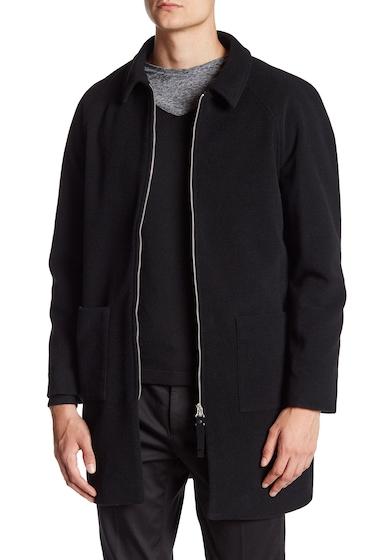 Imbracaminte Barbati DAVID NAMAN Collared Front Zip Long Sleeve Coat BLACK