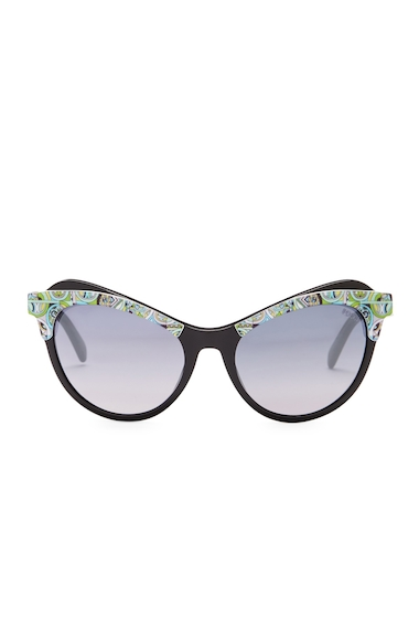 Ochelari Femei Emilio Pucci Womens Cat Eye Sunglasses SHNY BLK-GRDNT SMK