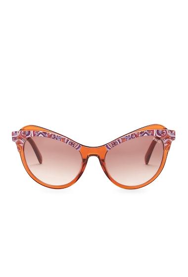 Ochelari Femei Emilio Pucci Womens Cat Eye Sunglasses ORANGE-GRDNT BRN