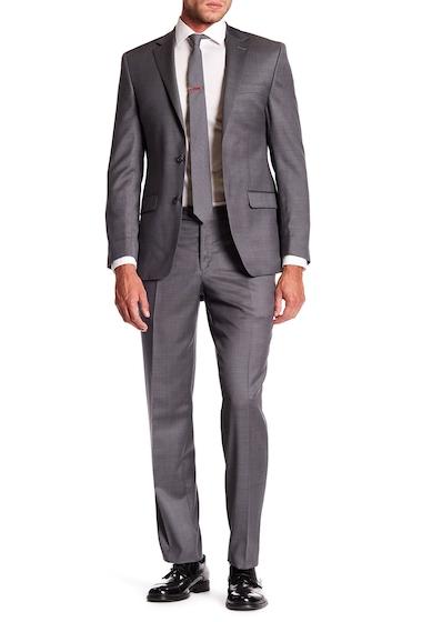 Imbracaminte Barbati Simon Spurr Gray Sharkskin Wool Two Button Notch Lapel Suit GREY