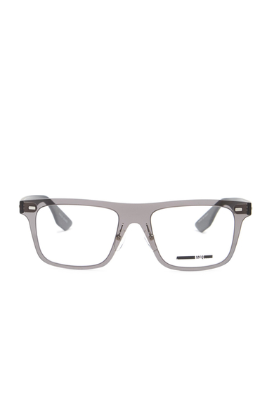 Ochelari Femei Alexander McQueen Womens Square Optical Glasses SOLID SMOKE