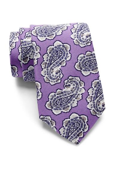 Accesorii Barbati Eton Fancy Paisley Silk Tie PURPLE