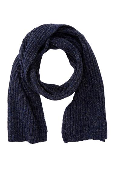 Accesorii Barbati Frye Ribbed Virgin Wool Blend Scarf NAVY