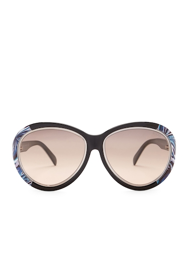 Ochelari Femei Emilio Pucci Womens Oversized Sunglasses BLKO-SMKG