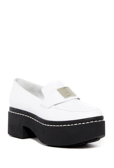 Incaltaminte Femei Opening Ceremony Agnees Platform Loafer WHITE