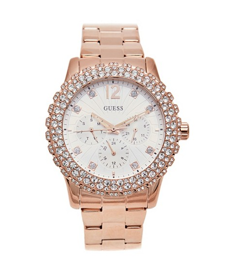 Ceasuri Femei GUESS Rose Gold-Tone Dazzler Watch no color