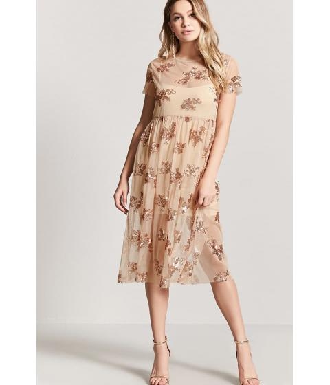 Imbracaminte Femei Forever21 Sequin Mesh Dress NUDE