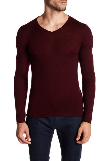 Imbracaminte Barbati DAVID NAMAN Long Sleeve Lightweight Wool Sweater 400BA