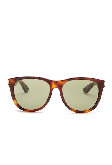 Ochelari Femei Saint Laurent Womens Cat Eye Retro Sunglasses SHINY LT HAVANA