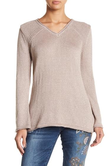 Imbracaminte Femei Democracy Metallic V-Neck Sweater PRR PRIMRO
