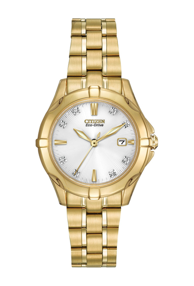 Ceasuri Femei Citizen Watches Womens Eco-Drive Stainless Bracelet Watch with Diamonds 29mm - 00053 ctw NO COLOR