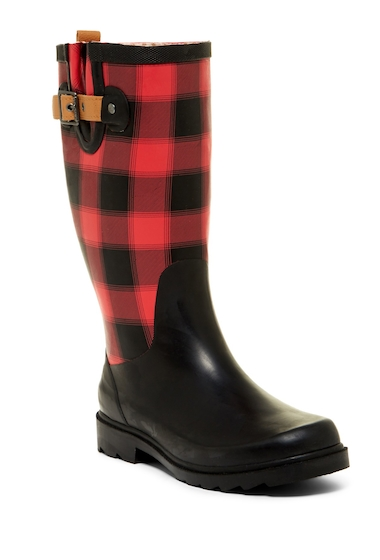 Incaltaminte Femei Chooka Lumber Buffalo Plaid Waterproof Rain Boot Women RED