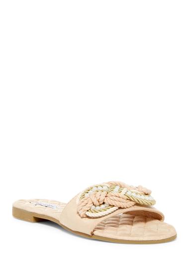 Incaltaminte Femei Cape Robbin Omh Faux Pearl Embellished Sandal NUDE