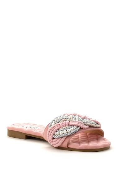 Incaltaminte Femei Cape Robbin Omh Faux Pearl Embellished Sandal BLUSH
