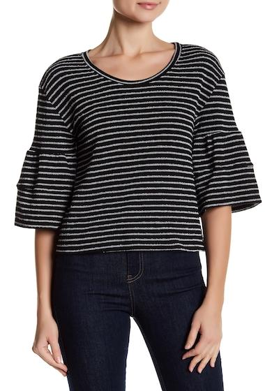 Imbracaminte Femei Caslon 34 Bell Sleeve Striped Blouse BLACK- WHITE STRIPE