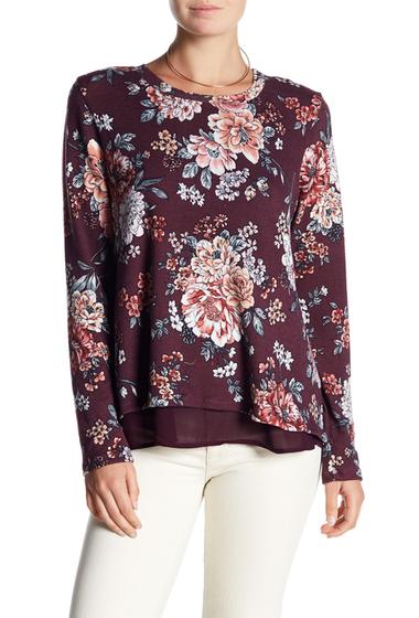 Imbracaminte Femei Bobeau Floral Bow Back Sweater PLUM FLORAL