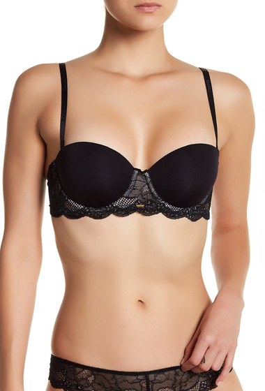 Imbracaminte Femei BeMe Rough Tumble Strapless Bra PITCH BLACK