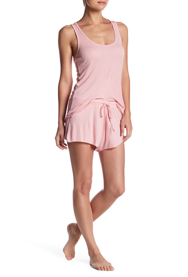 Imbracaminte Femei Barefoot Dreams Luxe Ribbed Jersey Shorts BLOSSOM