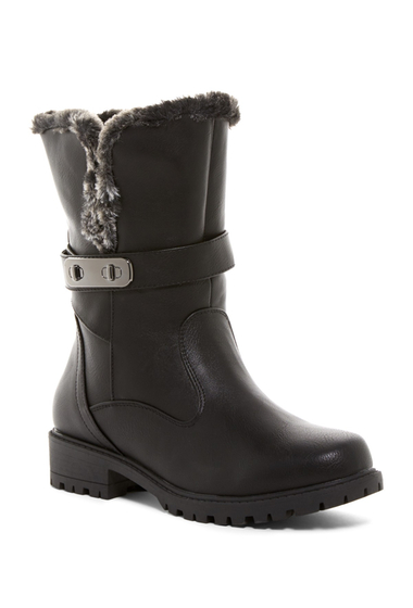 Incaltaminte Femei Aquatherm by Santana Canada Fifth Ave Waterproof Faux Fur Short Boot BLACK PU